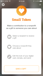 SmallTokenhomescreen